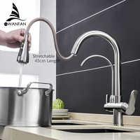 Mélangeur évier robinet de cuisine, robinets de cuisine torneira para cozinha de parede grue pour la cuisine robinet de filtre à eau trois voies mélangeur d'évier robinet de cuisine