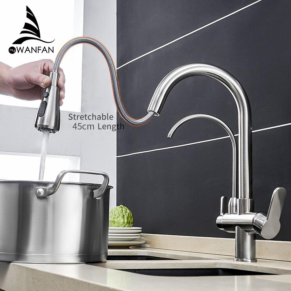 Robinets de cuisine torneira para cozinha de parede grue pour cuisine filtre à eau robinet trois voies évier mélangeur cuisine robinet WF-0195
