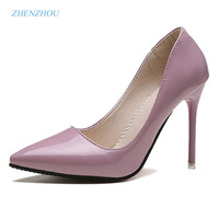 Zhenzhou Pumps 2017 In Spring And Autumn New Nude Color Pointed Women S Shoes Are Sexy