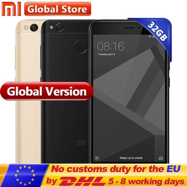 """Глобальная версия Оригинальный Xiaomi Redmi 4x3 ГБ 32 ГБ мобильного телефона Redmi4X Pro Смартфон Snapdragon 435 5.0"""" отпечатков пальцев"""