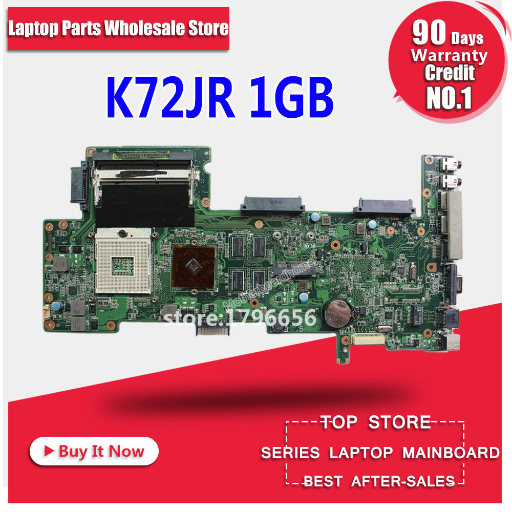 купить K72JR Motherboard 1GB For ASUS K72JR K72J K72 laptop Motherboard K72JR Mainboard K72JR Motherboard test 100% ok