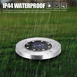 Image 3 - Spot lumineux solaire à 8 led, imperméable, rvb, idéal pour un jardin, un plancher, un sentier, une pelouse, une cour, une entrée ou une route, 4 unités