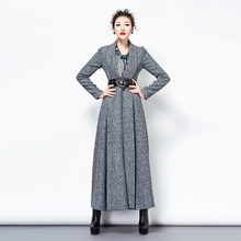 2016 Korean New Fashion Winter Women's Jackets Coats Turn-down Collar Long Sleeve Woolen Outwear S-4XL Plus Szie Slim Overcoat