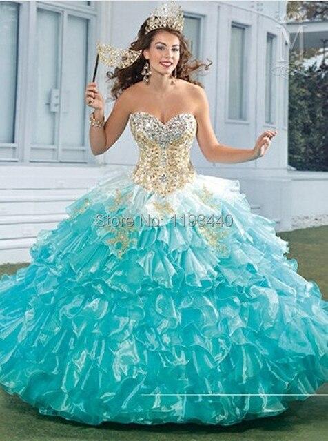 Vestidos De 15 Años 2015 Azul Barato De Color Melocotón Quinceanerag