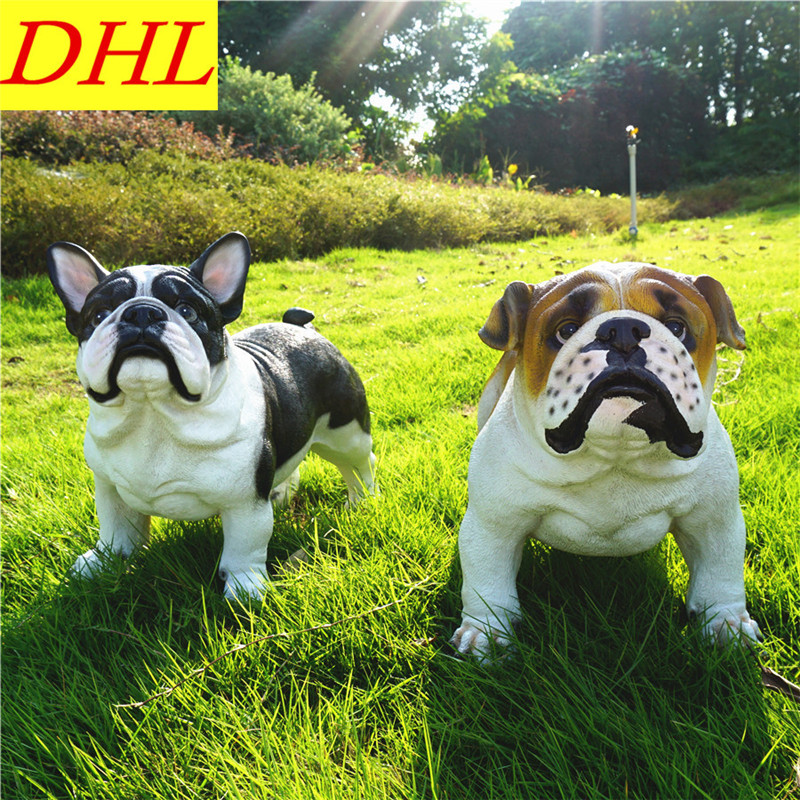 Simulation Cute France Bulldog Animals Dogs Colophony Crafts Balcony Home Decorations Collectible Kids Gift Toy L1990 cute simulation bear animals boonie bears crafts continental home villa district decorations collectible model toy l1973