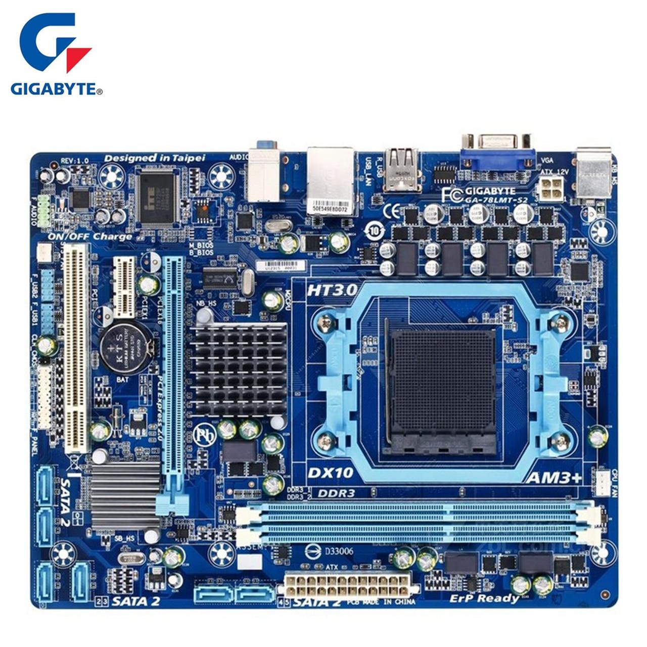 Gigabyte GA-78LMT-S2 Carte Mère Pour AMD 760G DDR3 USB2.0 16G Prise AM3 +/AM3 78LMT S2 De Bureau Carte Mère systemboard Utilisé