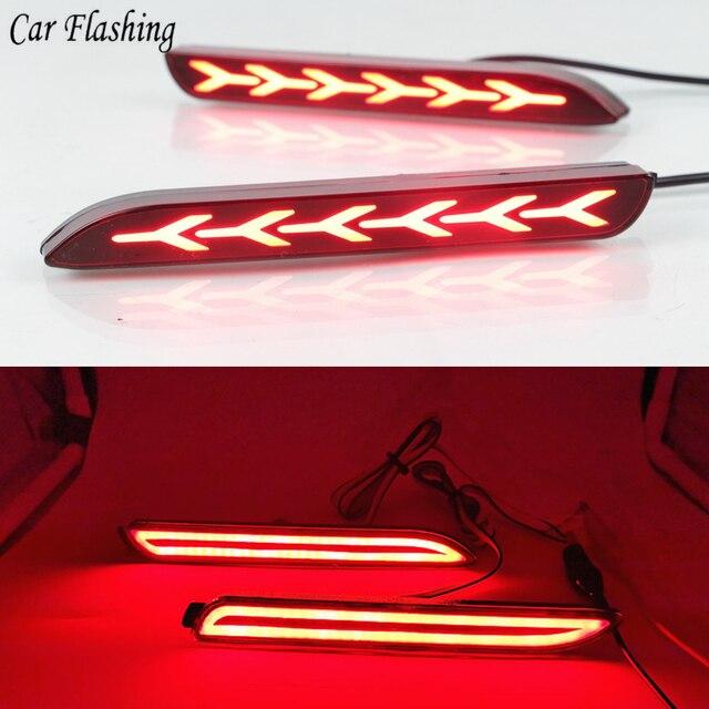Car Flashing 2pcs For Toyota Camry Reiz Wish Sienna Innova Lexus ISF GX470 RX300 Rear lamp Bumper Reflector Tail Brake Lights