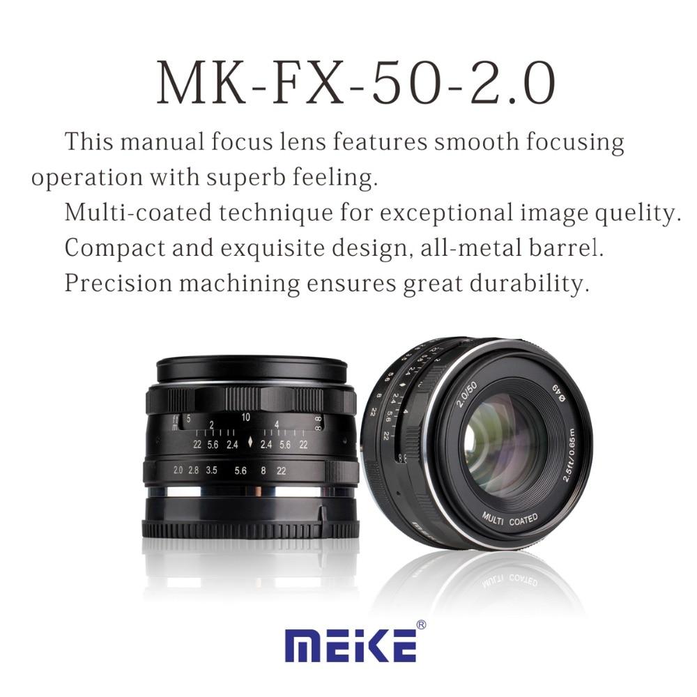 NEW Camera Lens MEKE MK-E-50-2.0 50mm f2 f/2.0 fixed manual large aperture lens FUJI Camera lens mf2300 f2