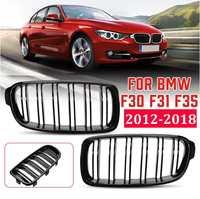 Pair Front Kidney Grilles Grill Gloss black Matte Black M Color For BMW F30 F31 F35 320i 328i 335i 2012 2013 2014 2015 2016 2017