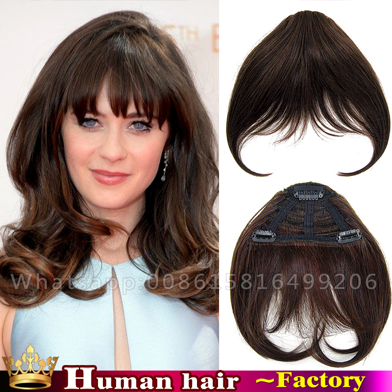Human Remy Hair Clip In Bangs Fringe Natural Clips Blunt Straight Pieces Frange A Cheveux Humain On Aliexpress