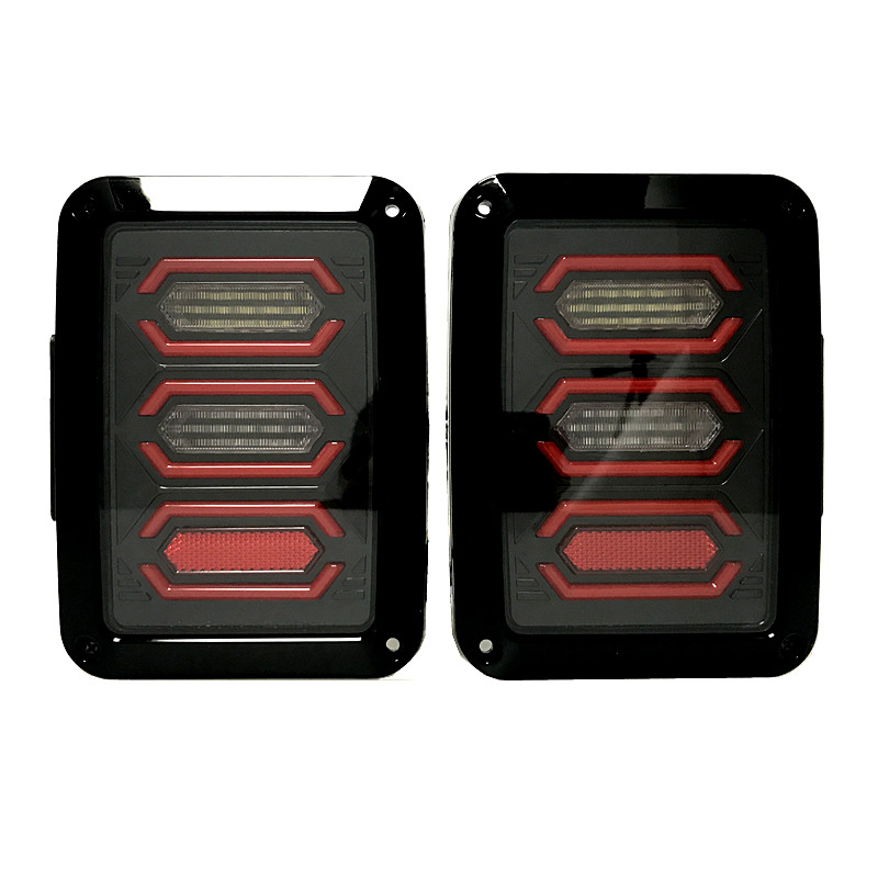 LED Tail lights for Jeep Wrangler Tailights Reverse light Real back up Turn Signal Lamp Daytime Runing lights DRL 1 pair