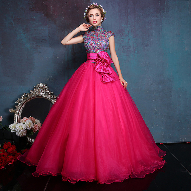Chinese style cheongsam Dresses qipao Ball Gowns 2016 Masquerade ...