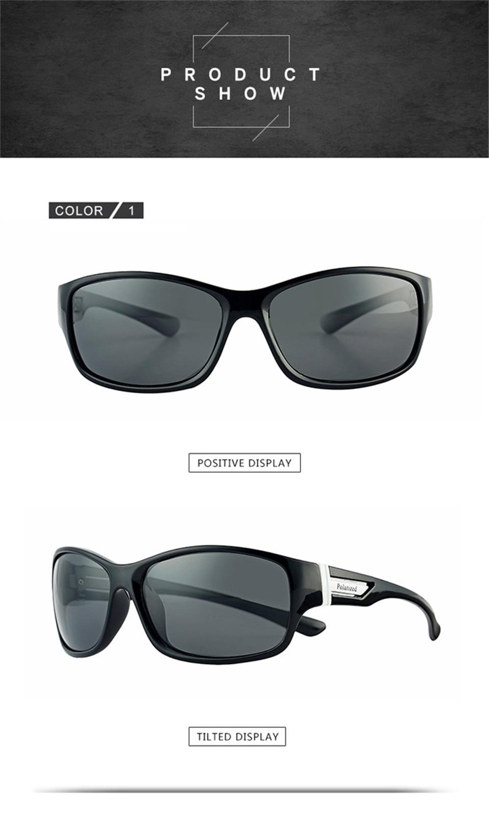 RILIXES 2018 Fashion Guy\'s Sun Glasses From Kdeam Polarized Sunglasses Men Classic Design All-Fit Mirror Sunglass (7)