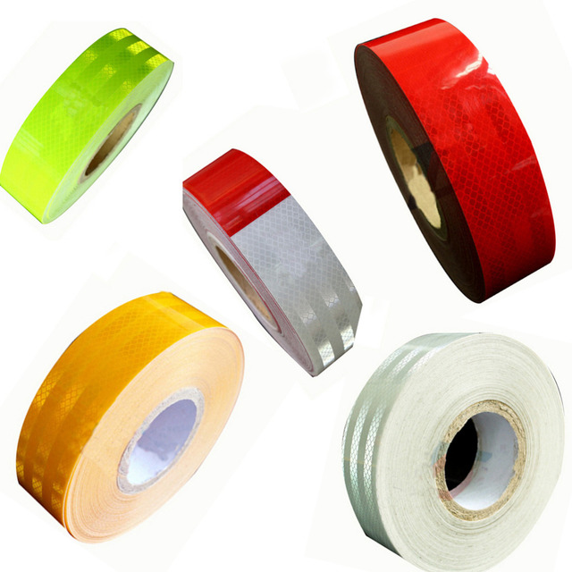 "(20 rolls/lot) Wholesale 2""*150' High quality Diamond Grade Conspicuity Solid Reflective Safety Tape Trailer Truck Red/whhite"