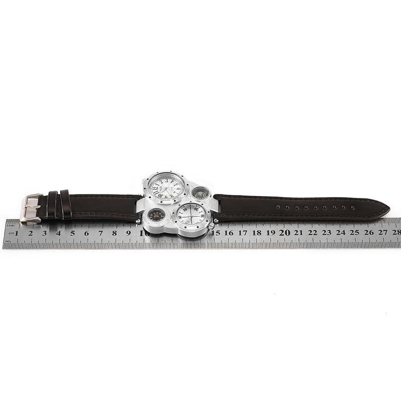 OULM 9415 Moda Relojes de Cuarzo Hombres Marca Original Cara Grande - Relojes para hombres - foto 5