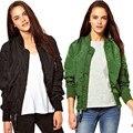 American Apparel s Cool design Women Stand Collar Long Sleeve Zipper Black Green Floral Short Jacket Bomber Jacket denim jacket