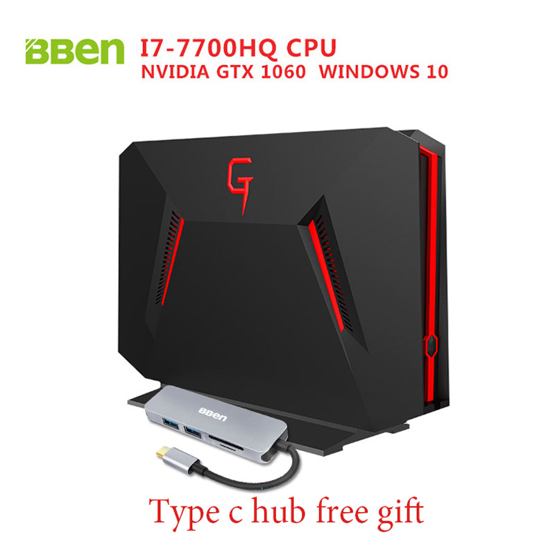 Bben GB01 Desktop Mini PC Win10 Intel I7 7700HQ CPU 6GB DDR5