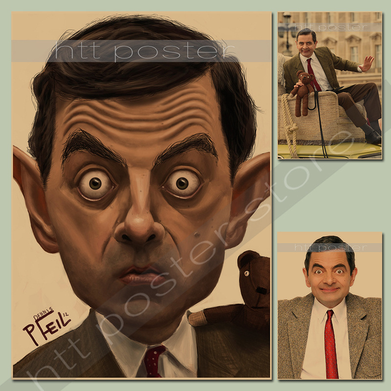 Дропшиппинг Mr. бин Роуэн Аткинсон/Великобритания комик/крафт-бумага/кафе/Бар плакат/ретро постер/декоративной живописи