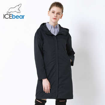 ICEbear 2019 Autumn new ladies windbreaker loose fashion casual windbreaker high quality brand women\'s GWF19001I