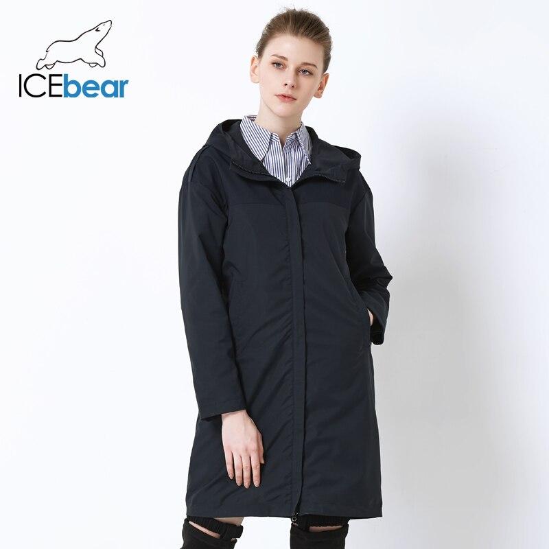 ICEbear 2019 otoño nuevas señoras rompevientos sueltos moda casual rompevientos alta calidad marca mujer GWF19001I-in Zanja from Ropa de mujer    3
