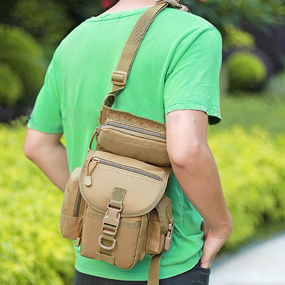 Men's  Camouflage Drop Leg Bag Panel Utility Waist Belt Pouch Pack Shoulder Bags Oxford Fanny Packs Men Belt Hip Bum Bag