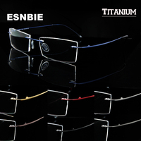 Man Women Memory Titanium Rimless Eyeglass Frames for Men Flexible Spectacles Glasses Eyewear Rx Clear Lens oculos de grau