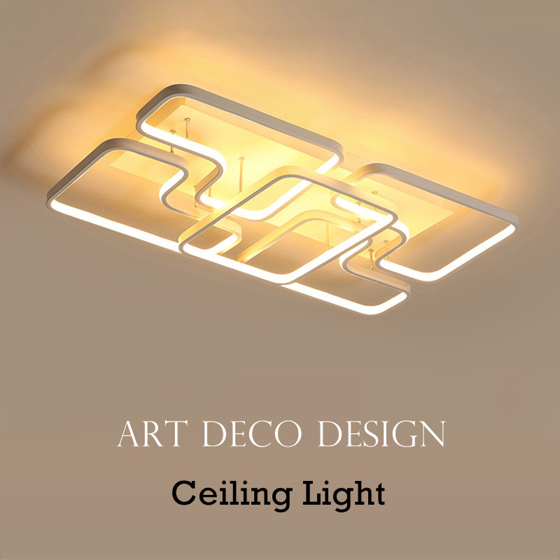 Modern LED Ceiling Light With Remote Control Surface Mounted Living Room Bedroom Home Decoration Dimmable Ceiling Lamps Fixture surface mounted children fan lighting ceiling lamps bedroom decoration light e27 light source honeybee decoration ceiling light