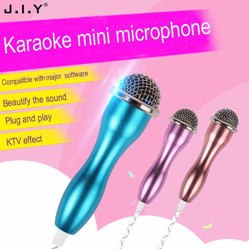 JIY Mini przewodowy/a wielu kolor Conderser zestaw słuchawkowy mikrofon do karaoke wysokiej wierności w ucho monitor mikser audio mikrofony do aplikacji domu studio MIC