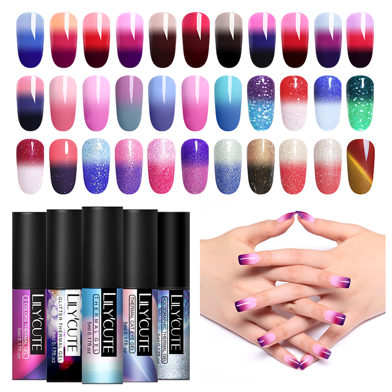 Beauty & Health Paraness Temperature Changing Mood Color Chang Gel Nail Polish Uv Led Soak Off Gel Polsih Long Lasting Nails Gel Polish Set Fixing Prices According To Quality Of Products