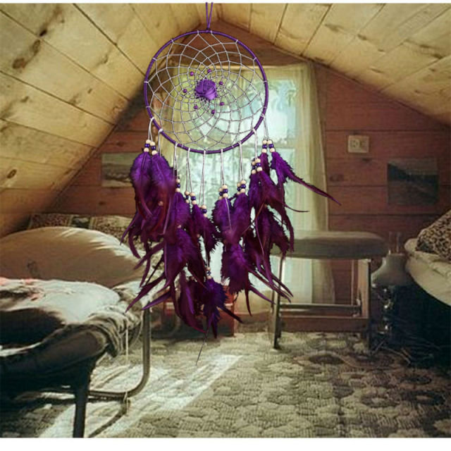 Big Purple Flower Dreamcatcher