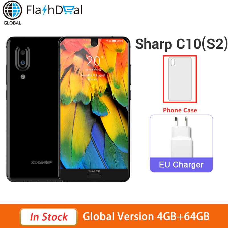 Global Version Sharp Aquos S2 5.5Inch Mobile phone RAM 4GB ROM 64GB Snapdragon 630 Android 8.0 2700mAh NFC 4G Smartphone