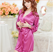 Ladies Satin Robe Sexy Sleepwear Erotic Dress Nightwear Pajamas Nightgown Sex Babydoll Women Ropa Interior Mujer Sexy Erotica