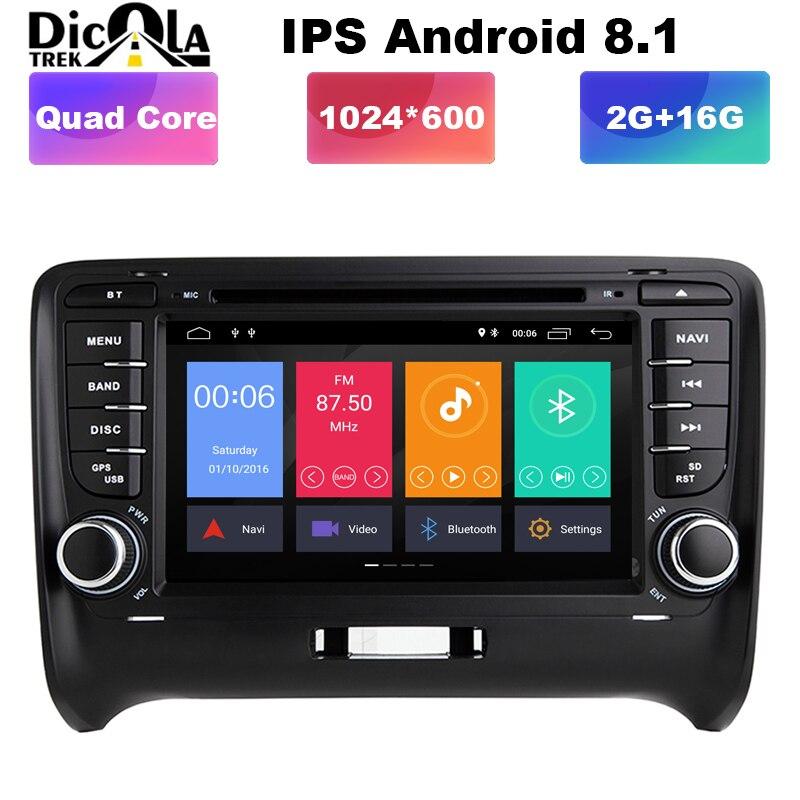 7 HD IPS Android 8 1 2 DIN Car DVD GPS For Audi TT MK2 8J