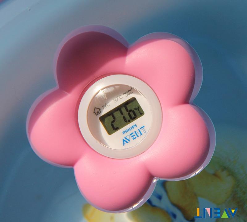 €18.29  AVENT bain & chambre bébé thermomètre numérique eau/température  ambiante rose-in Thermomètres from Mère et enfant on AliExpress