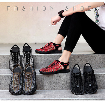 2020 Summer Big Size 47 Men Sandals Fashion Handmade Weaving Design Breathable Casual Beach Shoes Outdoor Sandals For Men