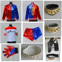 Suicide Squad Harley Quinn Cosplay Costume Clothing Women Halloween Costumes
