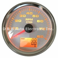 1pc New Type 0 8000RPM Tachometer Gauges Modification 85mm LCD Revolution Meters 9 32v Rev Counters with Hourmeter for Auto Boat