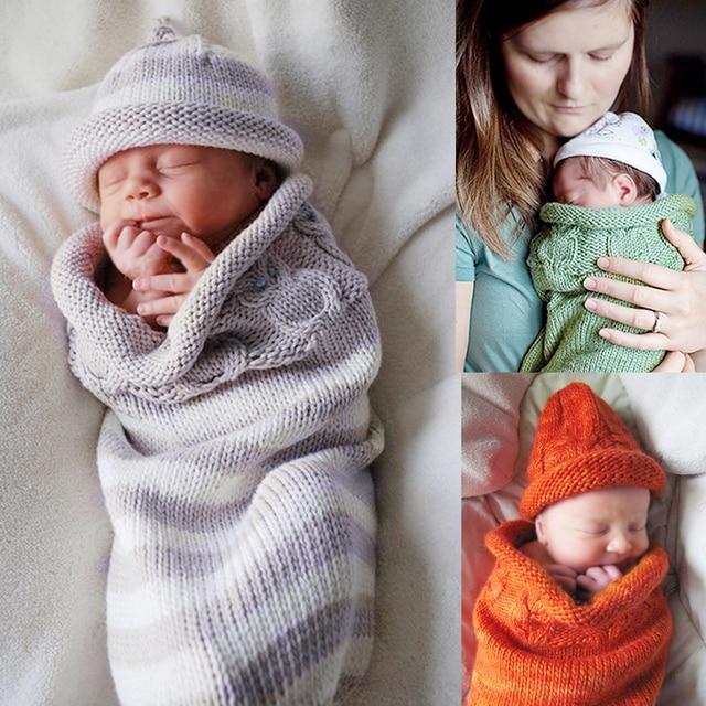 43c0f2f2c408 Newborn Baby Sleeping Bag+Cap Winter Stroller Bed Swaddle Blanket ...