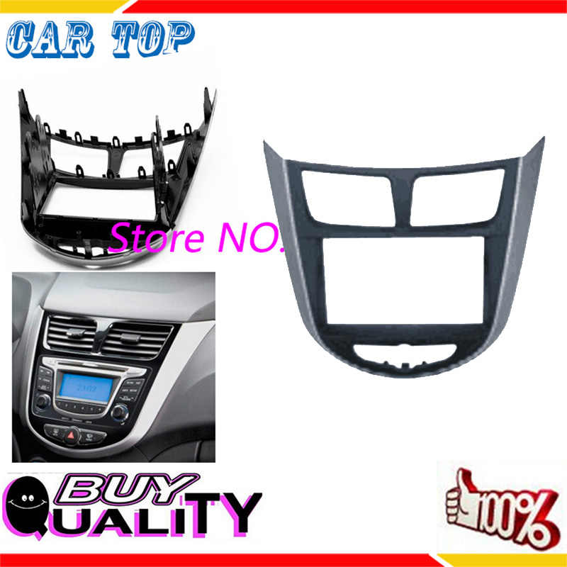 Doble Din 2 Din Car Radio Fascia para 2010-2014 HYUNDAI I-25 Solaris Acento Verna Frame Panel Dash CD de interfaz ESTÉREO