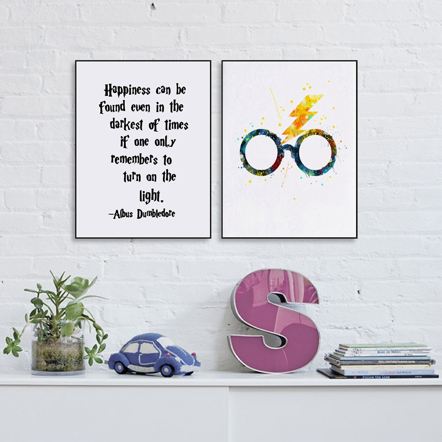 HJIAART Harry Potter Canvas Painting Print And Poster Wall Pictures For Child Baby Room Decor