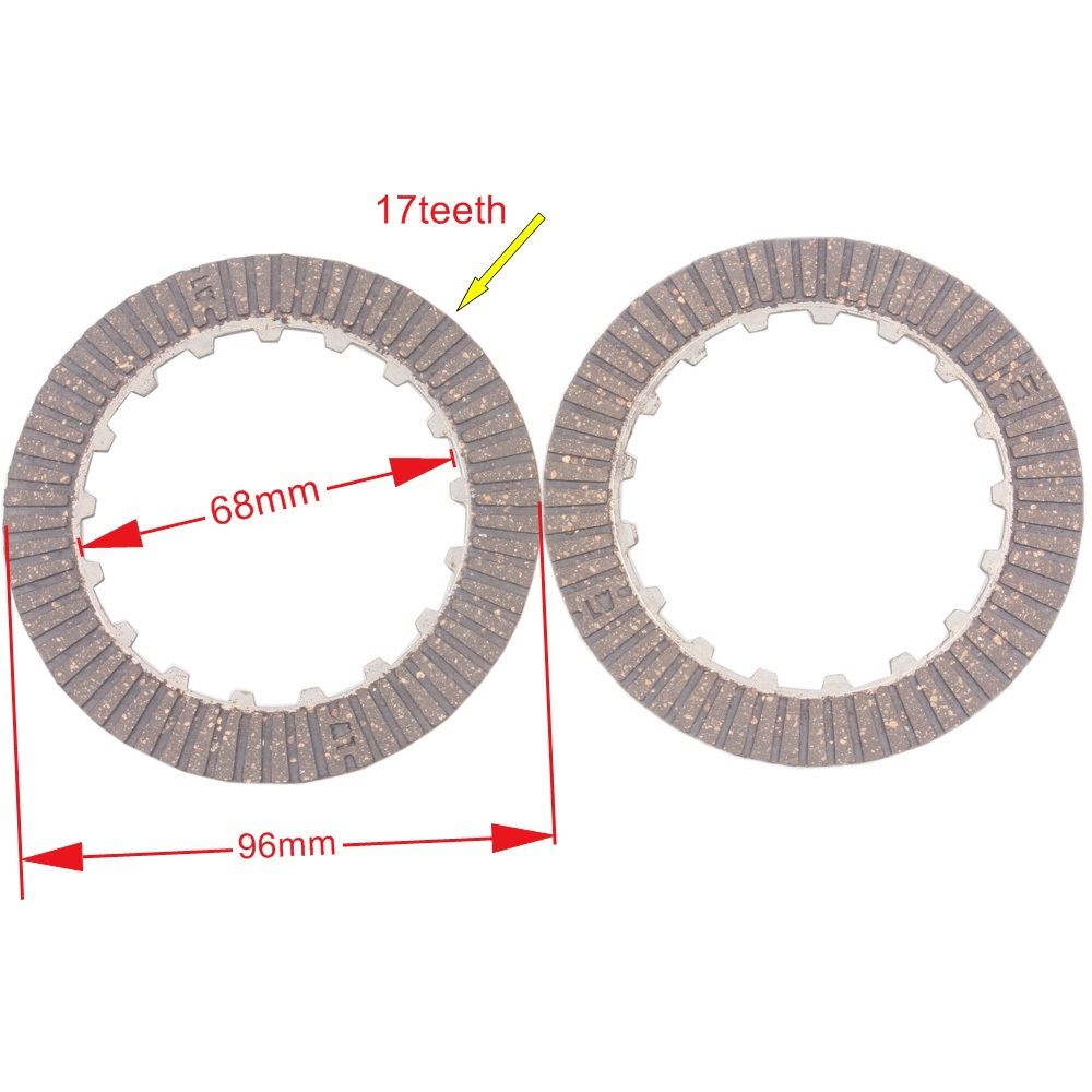 Clutch Disc Plate Set for 50 70 90 110 125cc Dirt Pit Bike ATV Motorcycle Fit Manual Clutch Version Engine