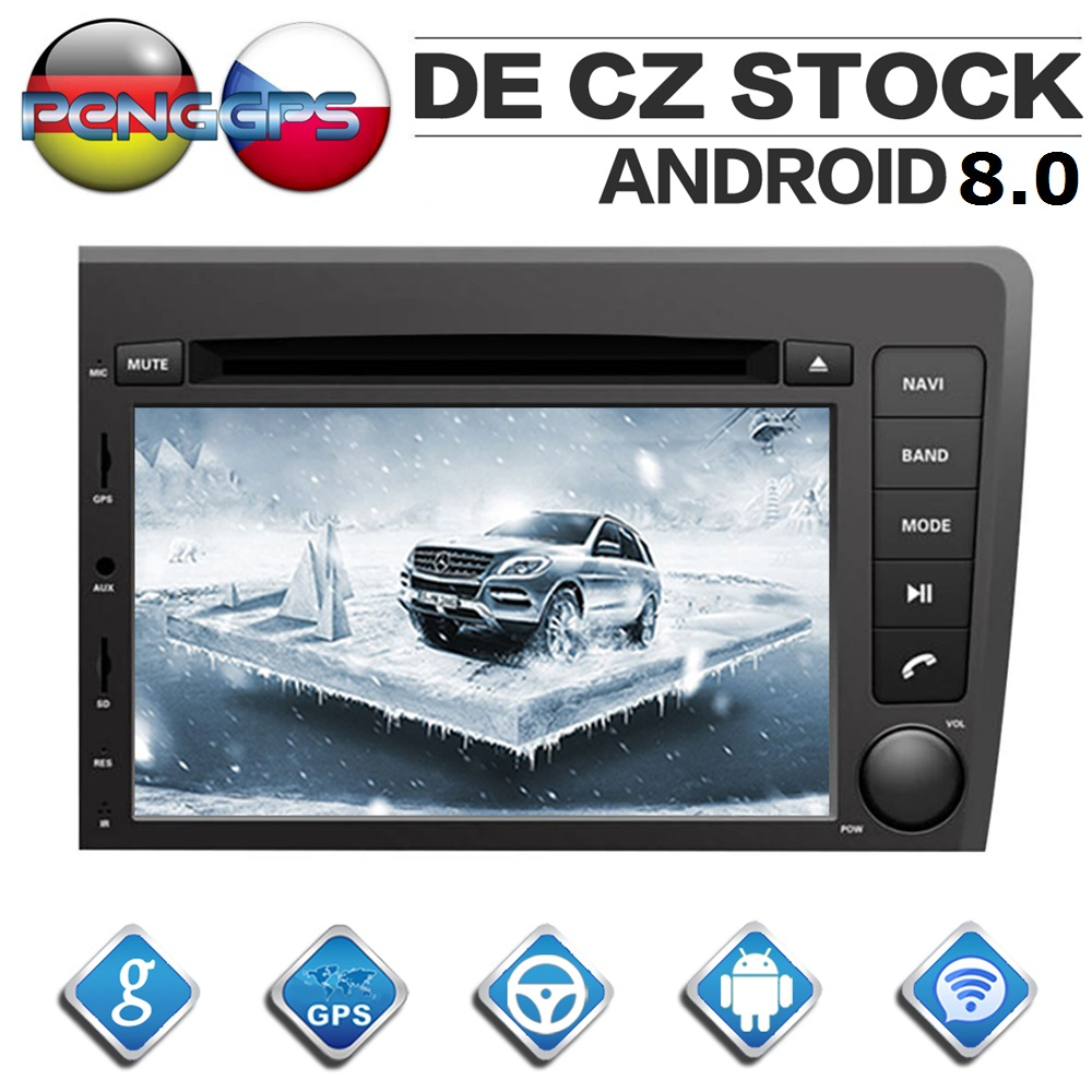 2 Din Android 8 0 Car Radio for VOLVO S60 V70 XC70 2000 2004 Octa Core