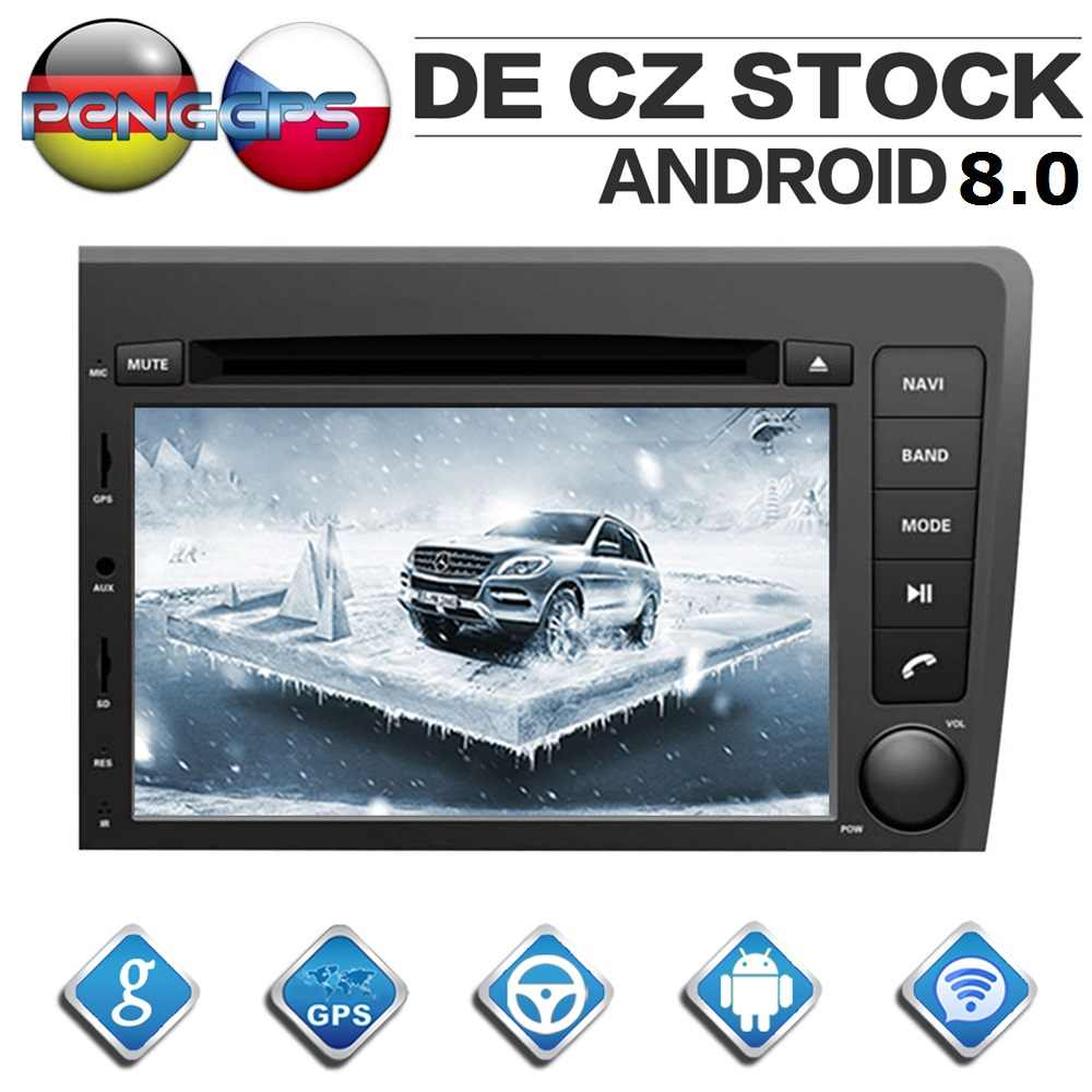 2 Din Android 8 0 Car Radio for VOLVO S60 V70 XC70 2000 2004