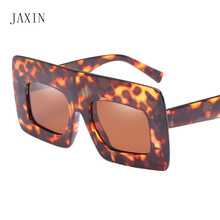 JAXIN Personality wide frame Sunglasses Women trend new Sunglasses Men brand design Fashion cool Glasses UV400 oculos feminino цена