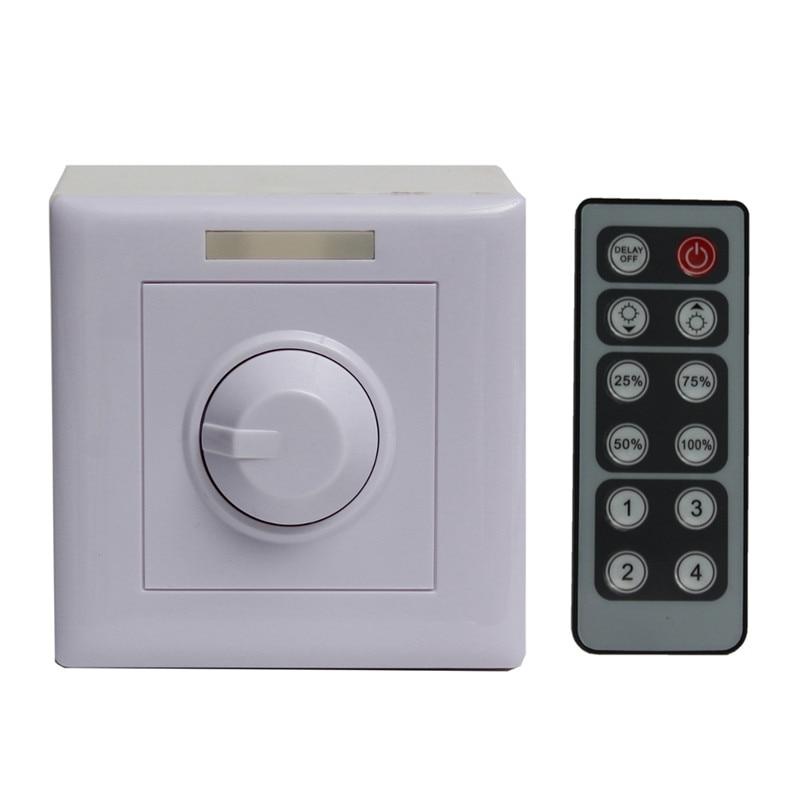 Infrared 12 Key Knob PWM Triac LED Dimmer Light Remote Controller Switch For LED Strip 12V