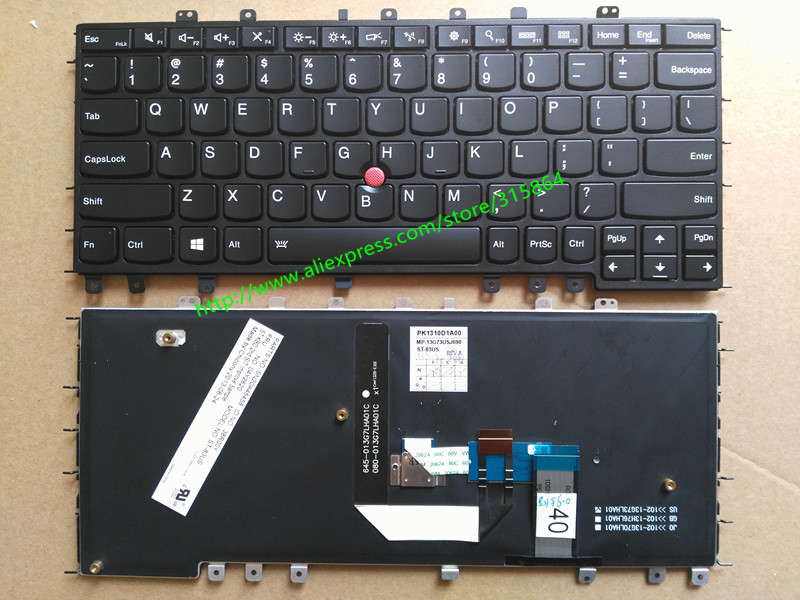 US New laptop keyboard for IBM ThinkPad Yoga S1 backlit