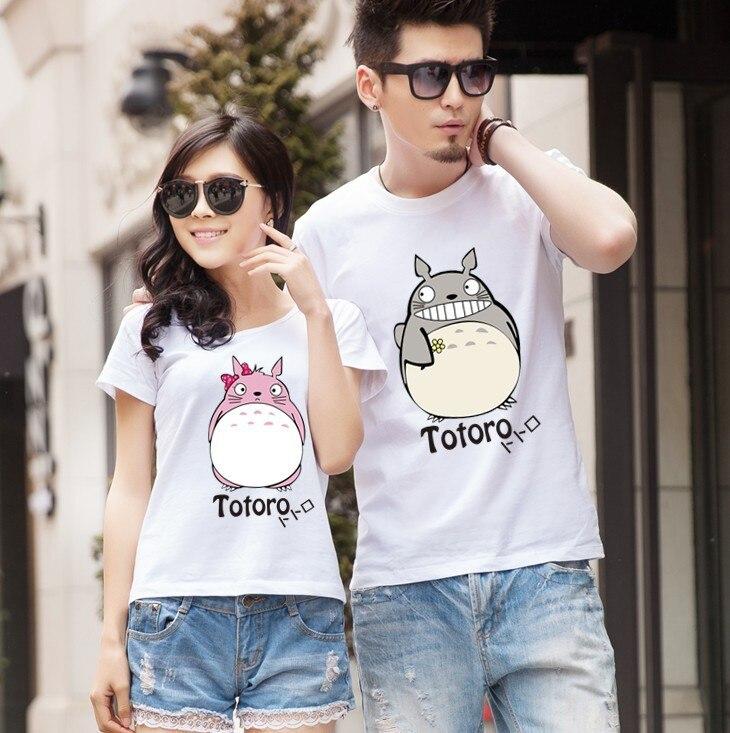 aliexpresscom buy totoro t shirt for lovers couple t