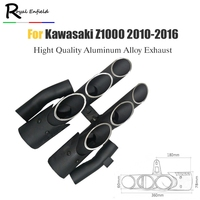Aluminum Alloy Motorcycle pipe exhaust Motorbike Exhaust Muffler Pipe Kits Left and right for kawasaki Z1000 2010 2016