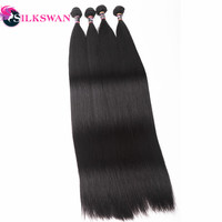 Silkswan Peruvian Hair Straight Bundles 8 30 Inch 32 34 38 40 60 Inch Weave Hair Extensions Remy Hair For Black Women