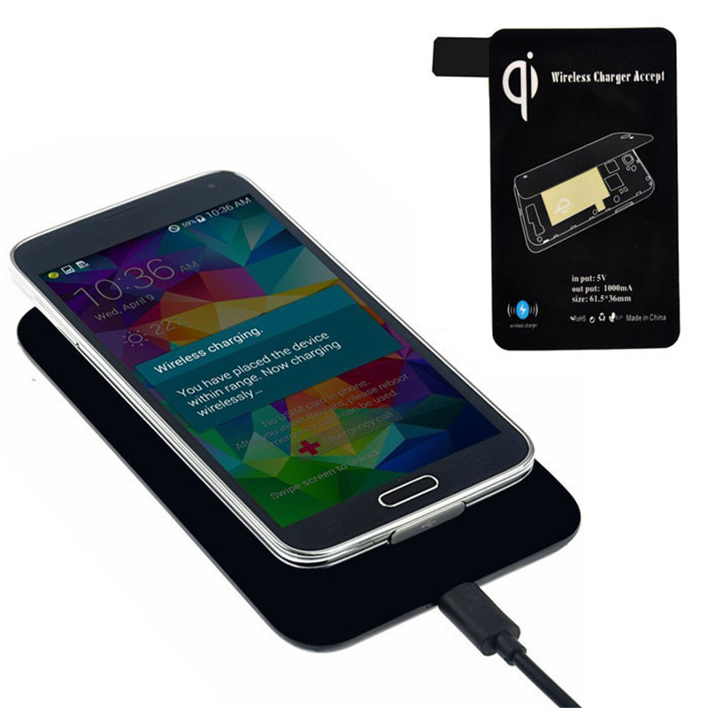 High Quality Qi Standard Wireless Charger Quick Charging+ Receiver Tag For Samsung Galaxy S5 I9600 G900 Portable